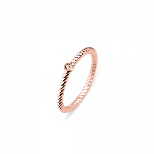 Anello North Star Oro Rosa