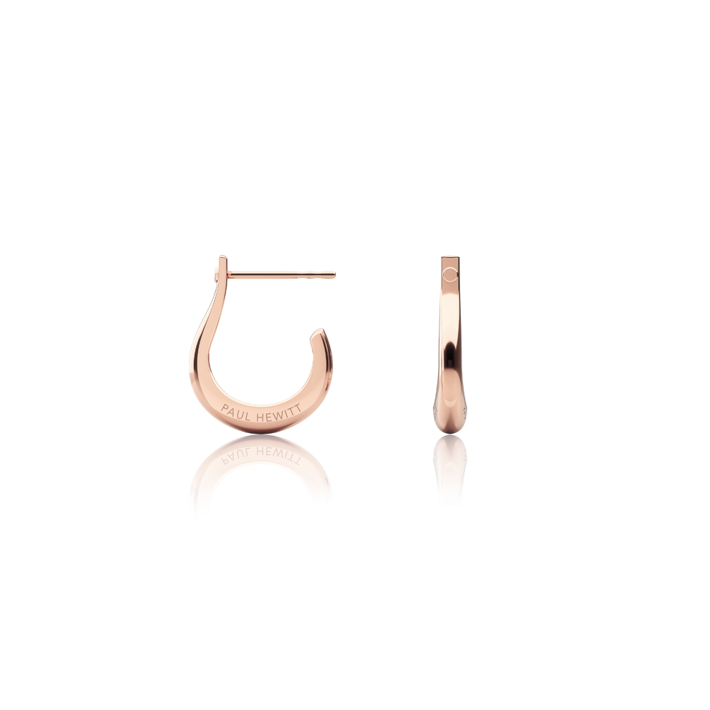 Boucles d'oreilles shackle hoop or rose