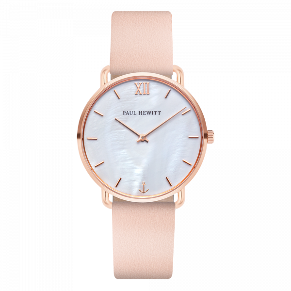 Watch Miss Ocean Pearl Rose Gold Leather Nude