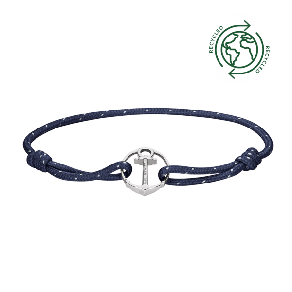 Bracelet Re/Brace Silver Navy Blue