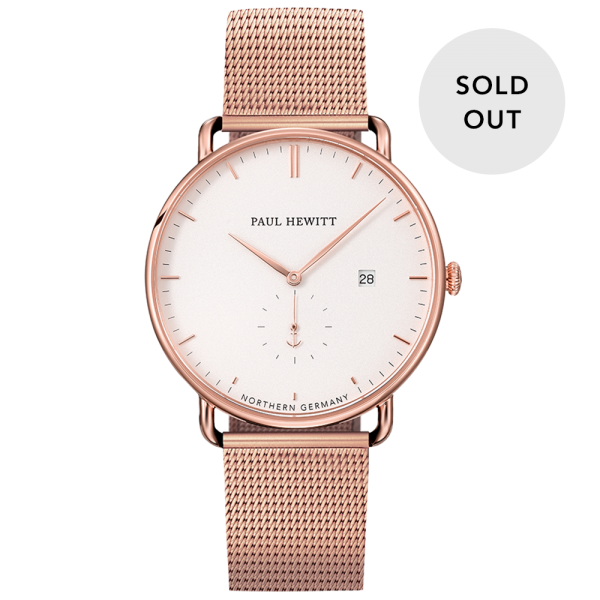 Uhr Grand Atlantic White Sand Roségold Mesh