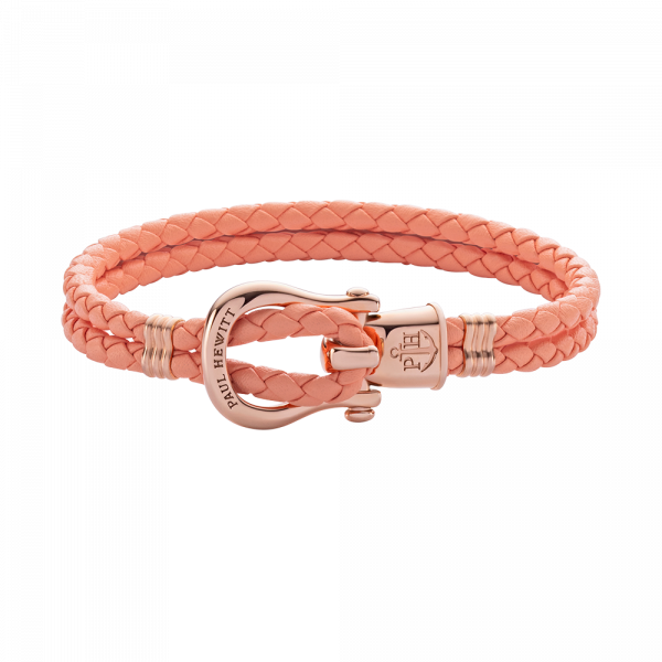 Bracelet Phinity Or Rose Cuir Apricot
