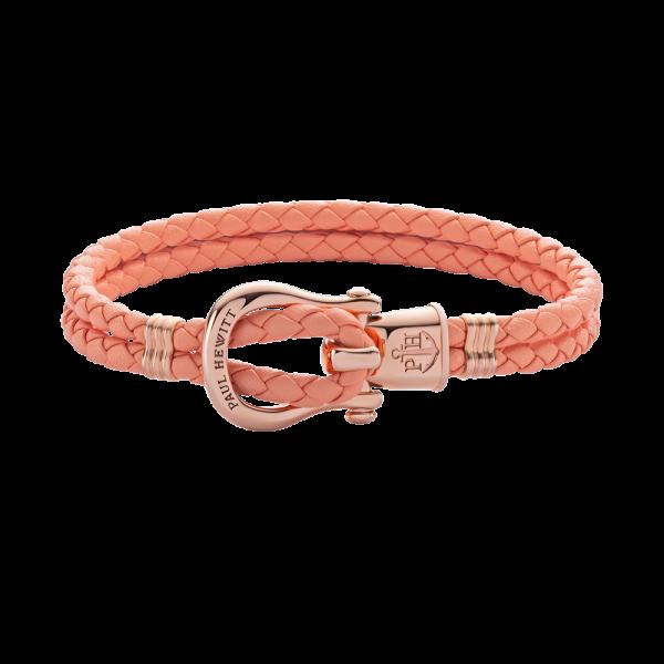Armband Phinity Roségold Leder Apricot