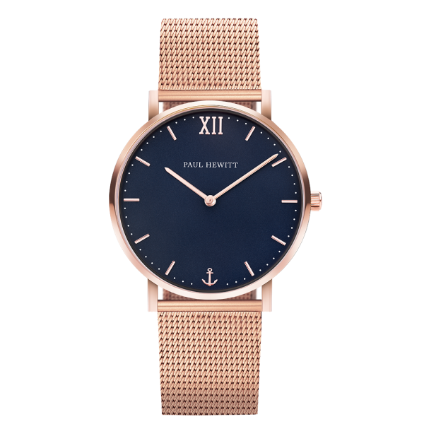 Montre Sailor Blue Lagoon Or Rose Mesh