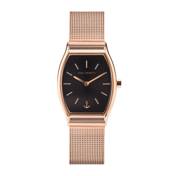 Watch Modern Edge Black Sunray Rose Gold Mesh