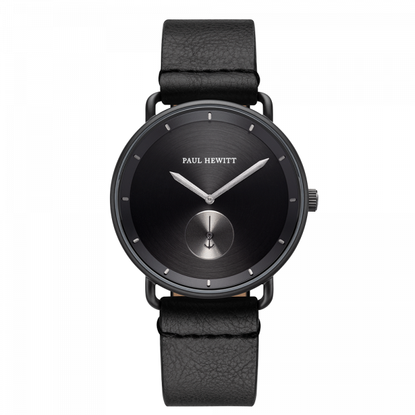 Watch Breakwater Black Sunray Black Gun Metal Leather Pure Black