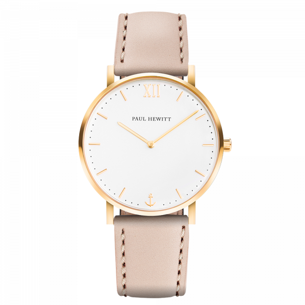 Watch Sailor White Sand Gold Leather Hazelnut
