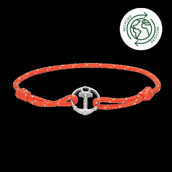 Armband Re/Brace Silber Orange