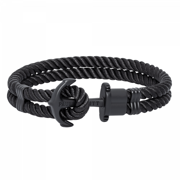 Anchor Bracelet Phrep Black Nylon Black