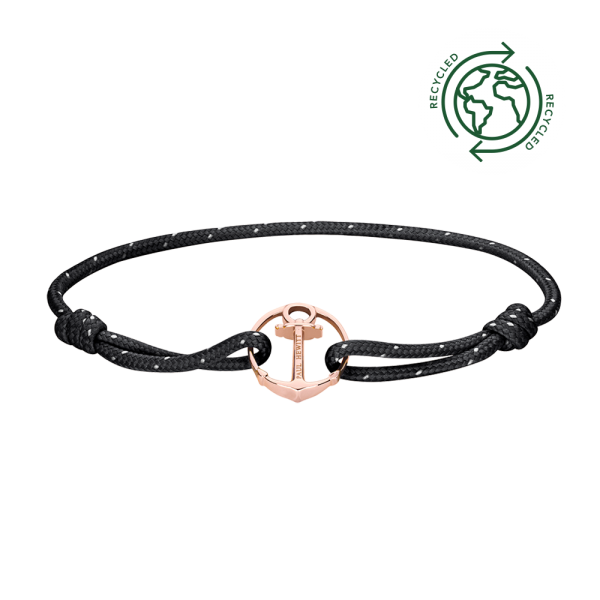 Bracelet Re/Brace Rose Gold Black