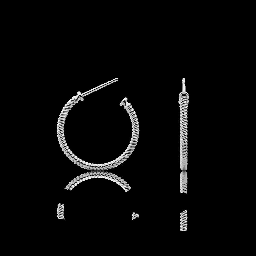 Boucles d'oreilles rope hoop argenté