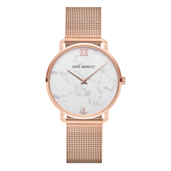 Montre Miss Ocean Marble Or Rose Mesh