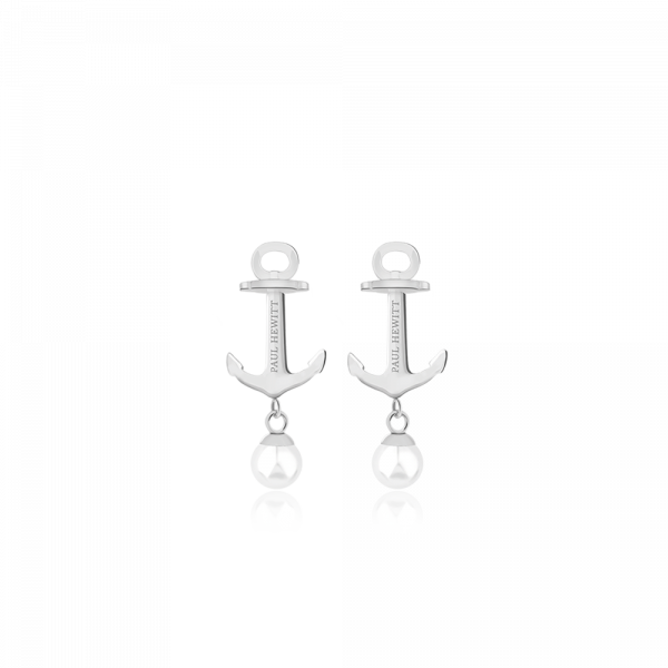 Earring Anchor Pearl Silver Pearl