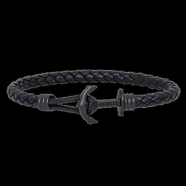 Anchor Bracelet Phrep Lite Black Leather Black