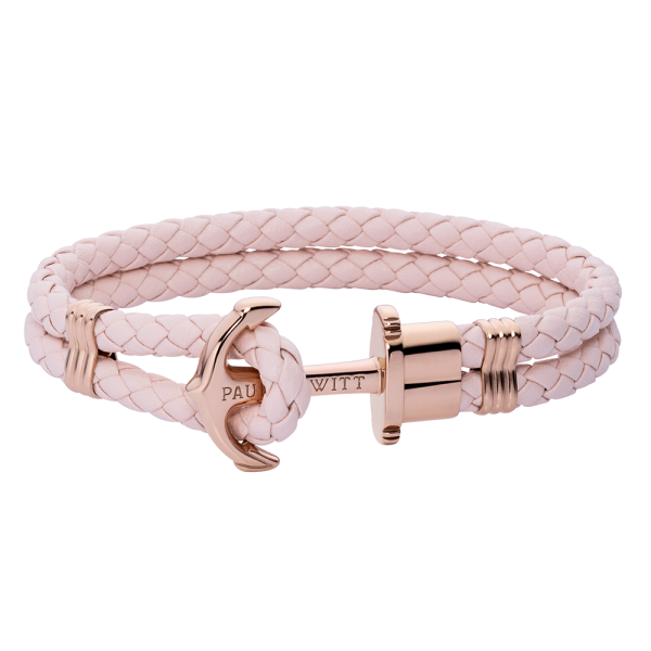 Anchor Bracelet Phrep Rose Gold Leather Pink Rose