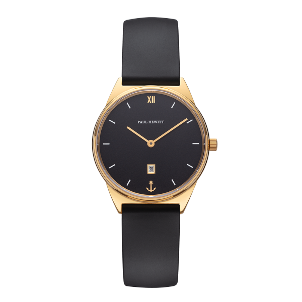 Watch Praia Black Sea Gold Natural Rubber
