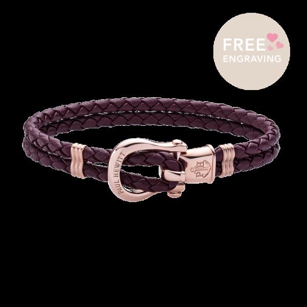 Bracelet Phinity Or Rose Dark Mauve