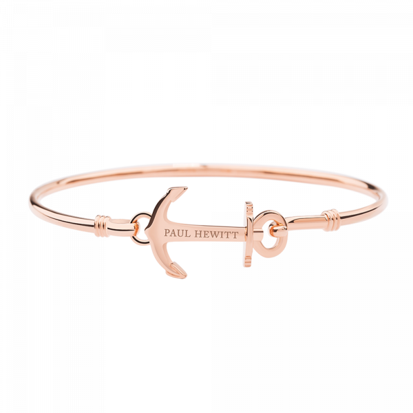 Bracelet Jonc Anchor Cuff Or Rose