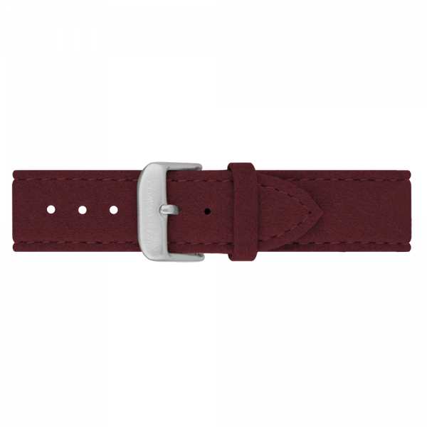 Bracelet de Montre Alcantara Argenté Dark Berry 20 mm