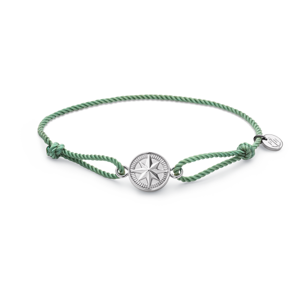 Armband Windrose Silber Teal
