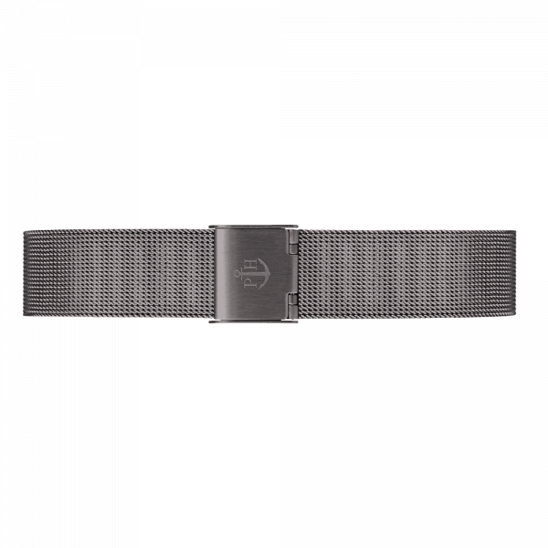Watch Strap Mesh Grey Metalic 16 mm