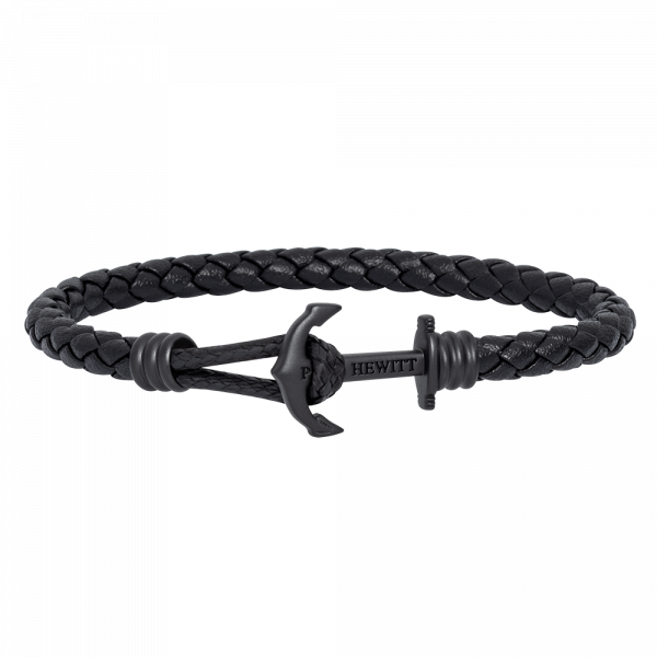 Anchor Bracelet Phrep Lite Black Leather Black