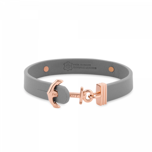 Anchor Bracelet Signum Rose Gold Leather Grey