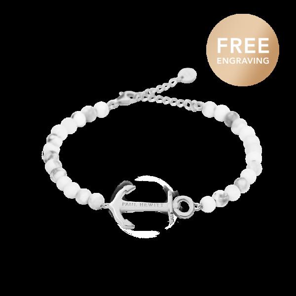 Bracelet Anchor Spirit Silver Marble