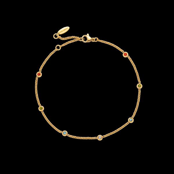 Anklet Rainbow Stones Gold