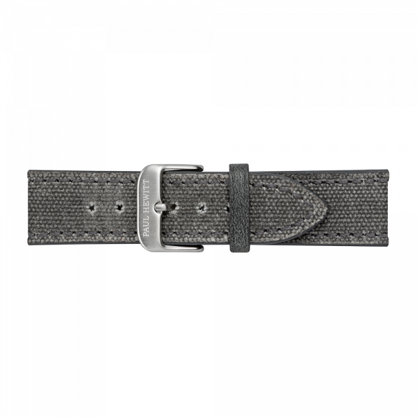 Bracelet de Montre Canvas Argenté Gris 20 mm