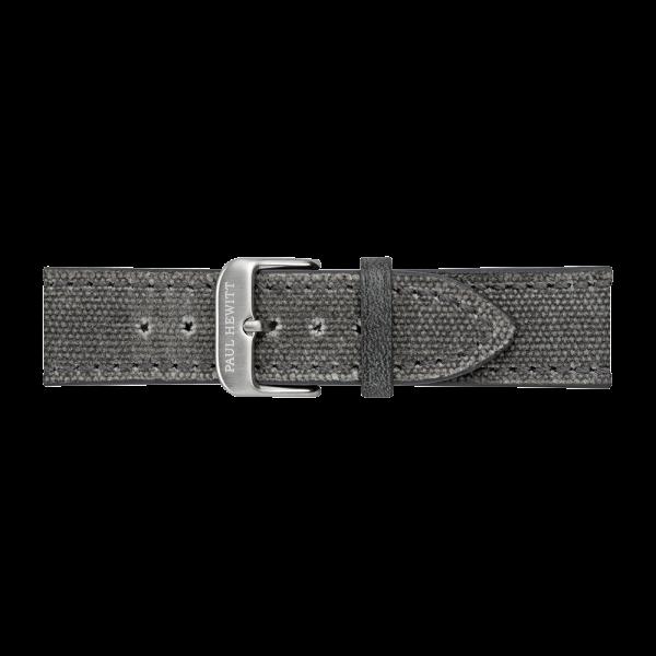 Uhrenarmband Canvas Silber Grau 20 mm