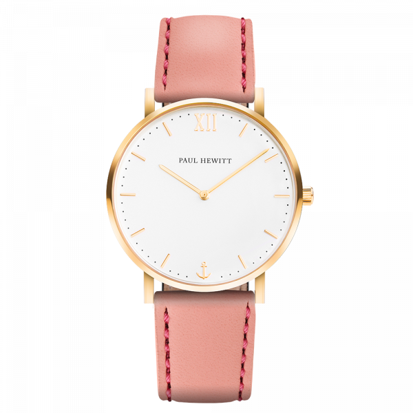 Watch Sailor White Sand Gold Leather Aurora
