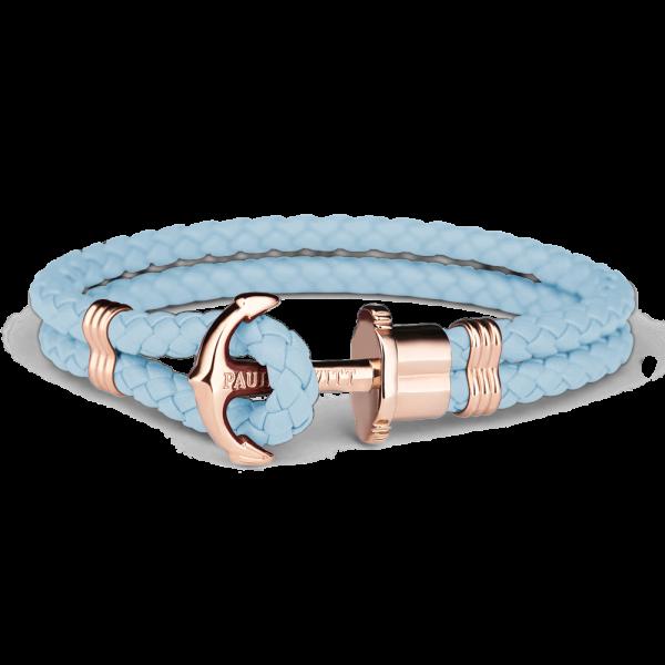 Bracelet Ancre Phrep Or Rose Cuir Niagara