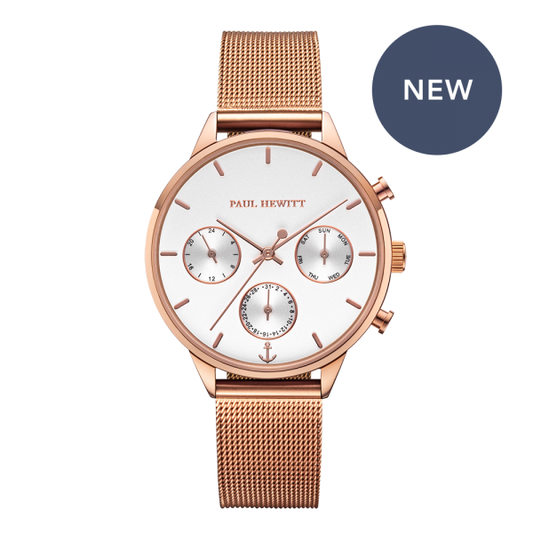 Uhr Everpulse White Sand Roségold Mesh