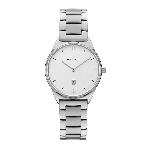 Watch Praia White Sand Silver Metal