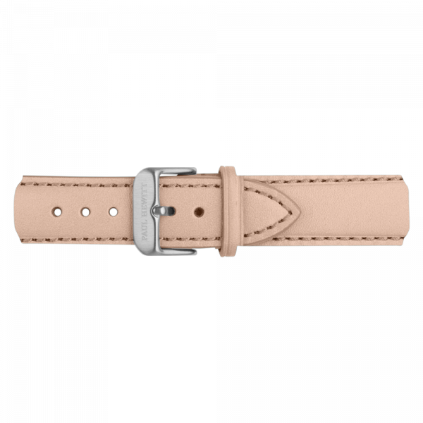 Watch Strap Leather Silver Hazelnut 20 mm