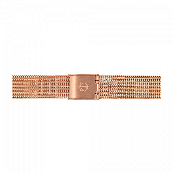 Watch Strap Mesh Rose Gold 12 mm