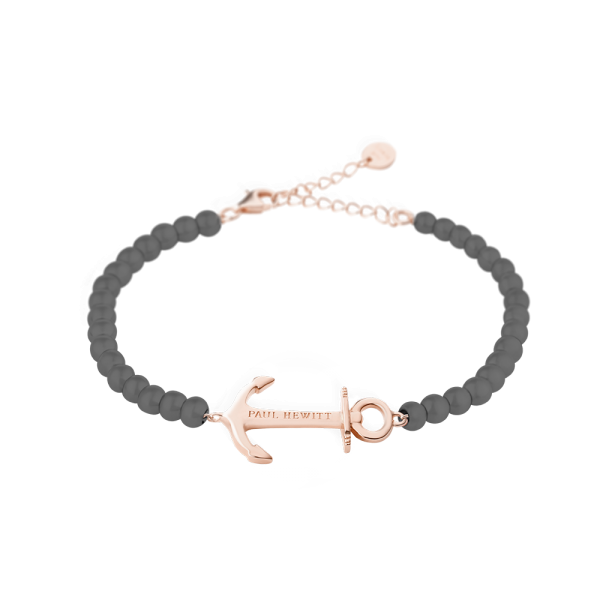 Bracelet Anchor Spirit Or Rose Grey Metallic