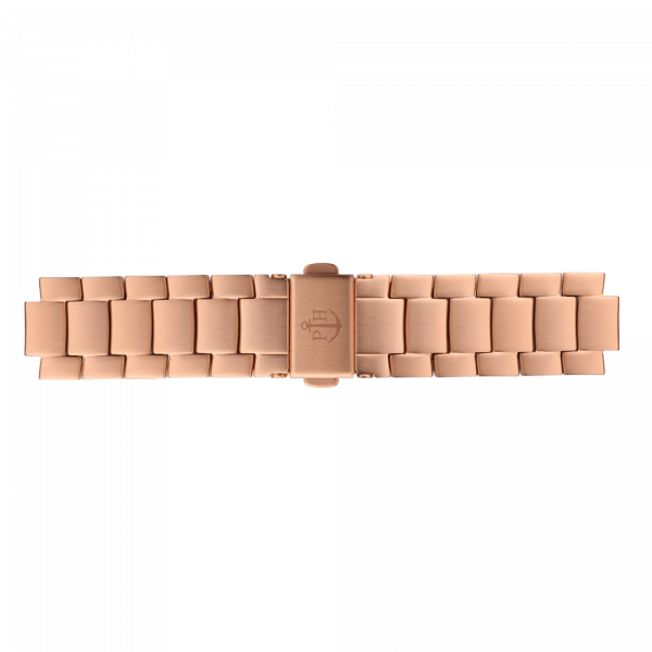 Uhrenarmband Metall Roségold 16 mm