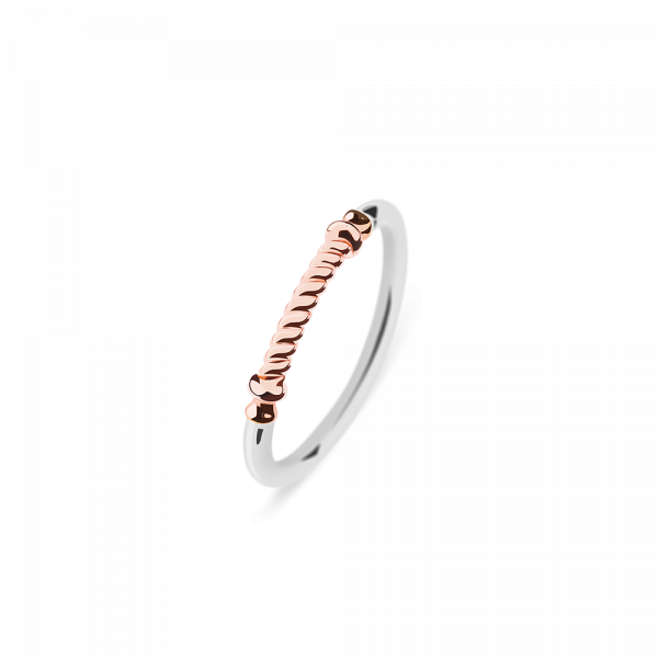 Bague Portside Or Rose Argenté
