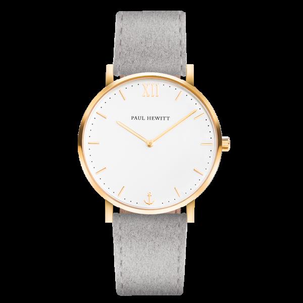 Uhr Sailor White Sand Gold Alcantara Grau