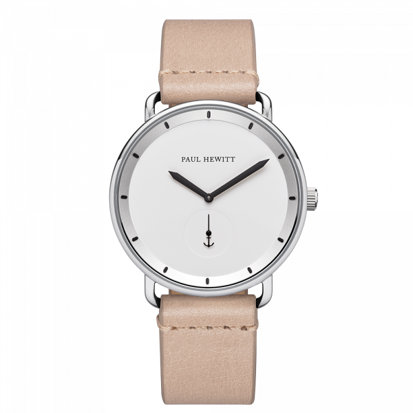 Watch Breakwater White Sand Silver Leather Sandstone