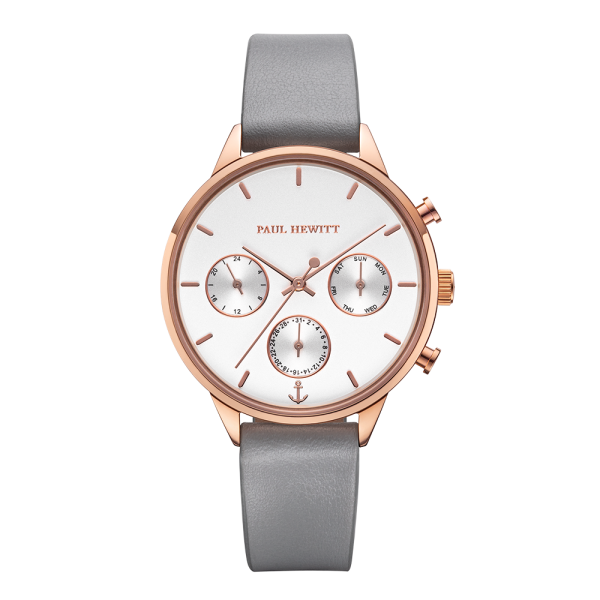 Montre Everpulse White Sand Or Rose Cuir Graphite