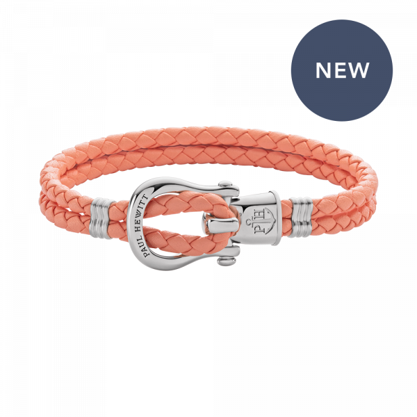 Bracelet Phinity Silver Leather Apricot