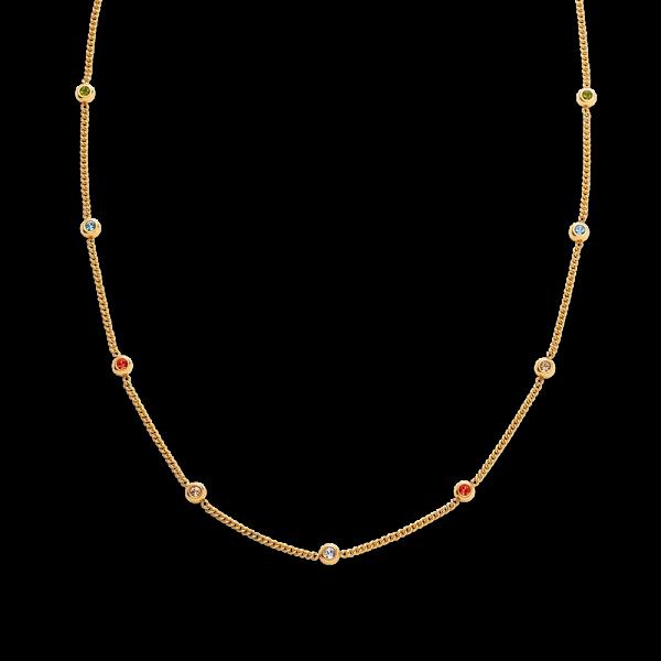 Halskette Rainbow Stones Gold